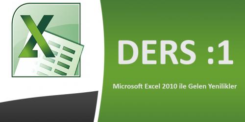 Microsoft Excel 2010 Görsel Eğitim Ders-1