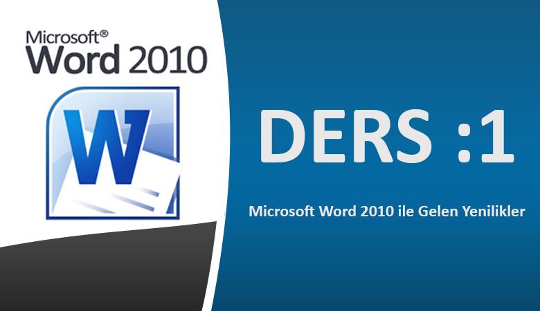 Microsoft Word 2010 Görsel Eğitim Ders-1