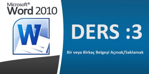 Microsoft Word 2010 Görsel Eğitim Ders-3